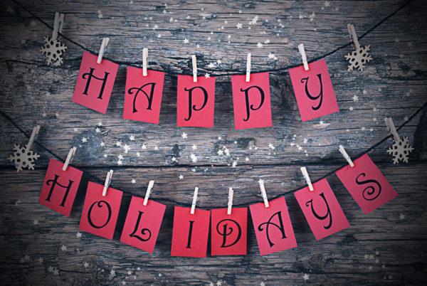 Happy Holiday sticky notes