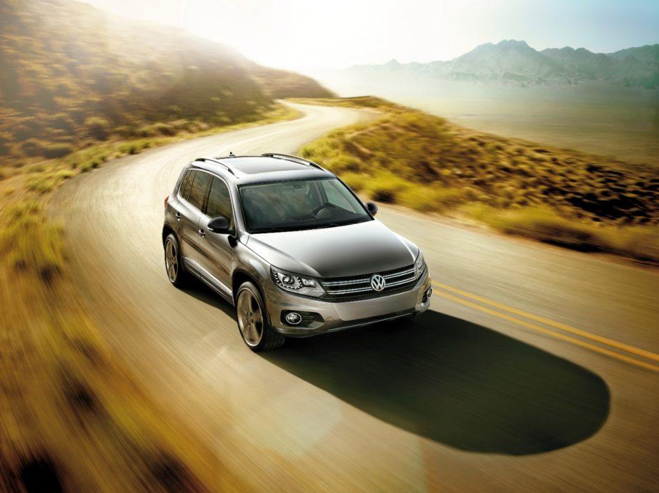 Volkswagen Tiguan on mountain road
