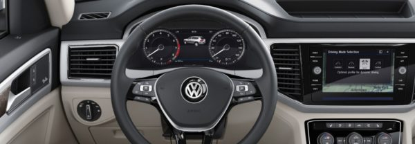 A closeup of the VW Digital Cockpit