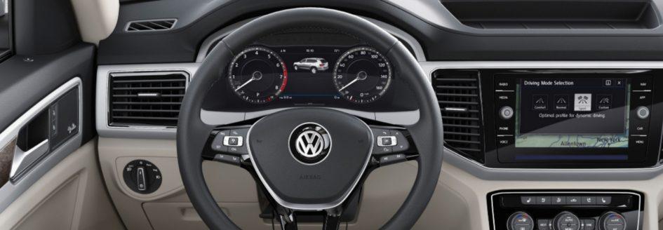 A closeup of the VW Digital Cockpit