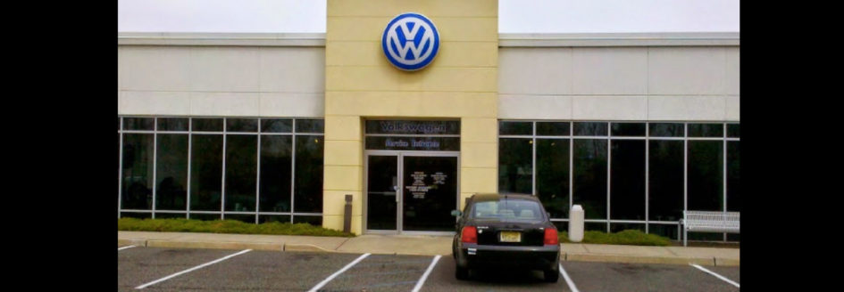 Volkswagen dealership exterior featured in a blog post about buying used cars